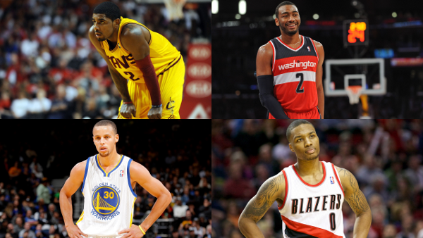 Kyrie Irving Stephen Curry Damian Lillard John Wall