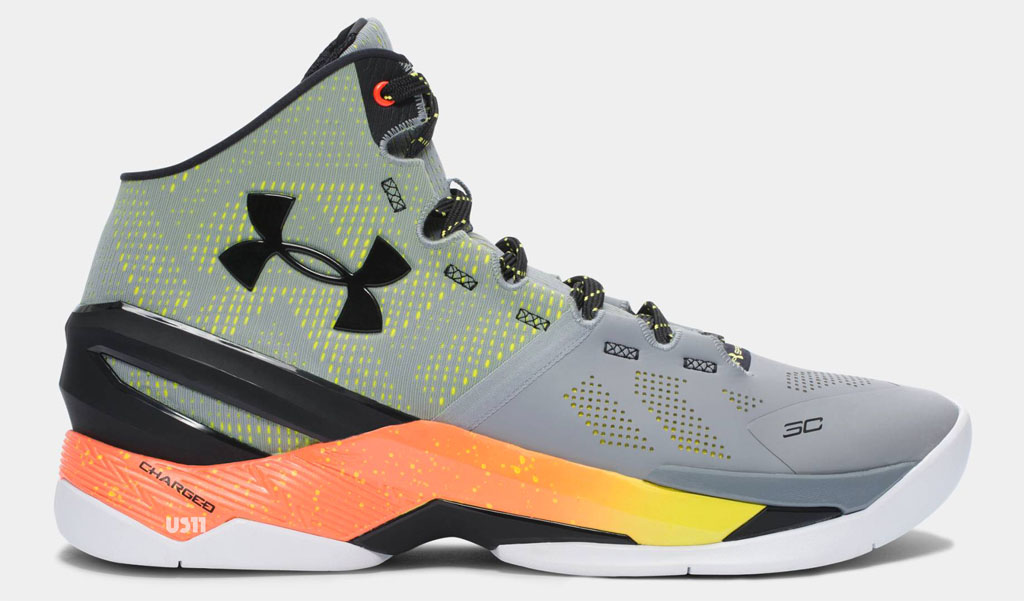 new concept 02f14 673d0 ... under armour curry two grey black orange yellow .