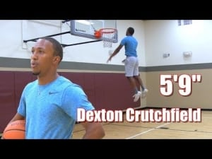 Le dunkeur du jour :Dexton Crutchfield, 1m75 et une détente folle