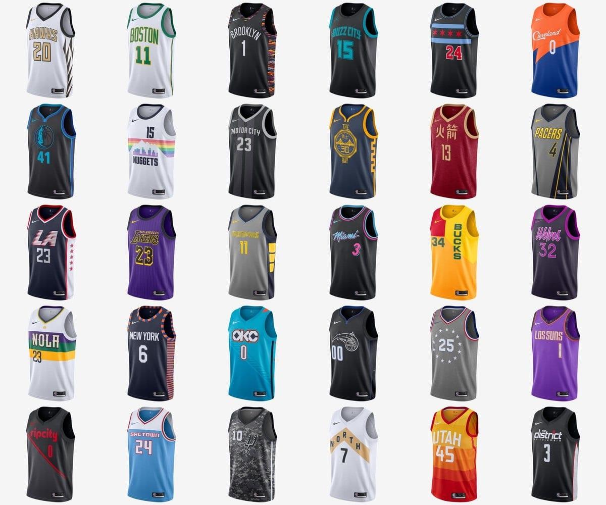 Les Par City Edition Maillots Portés Nba 30 Nike De Franchises VzMpSU