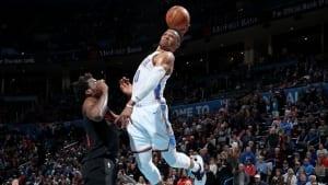 Top 5 NBA : Énormes tomars et gros contre, Paul George et Russell Westbrook dont le show !