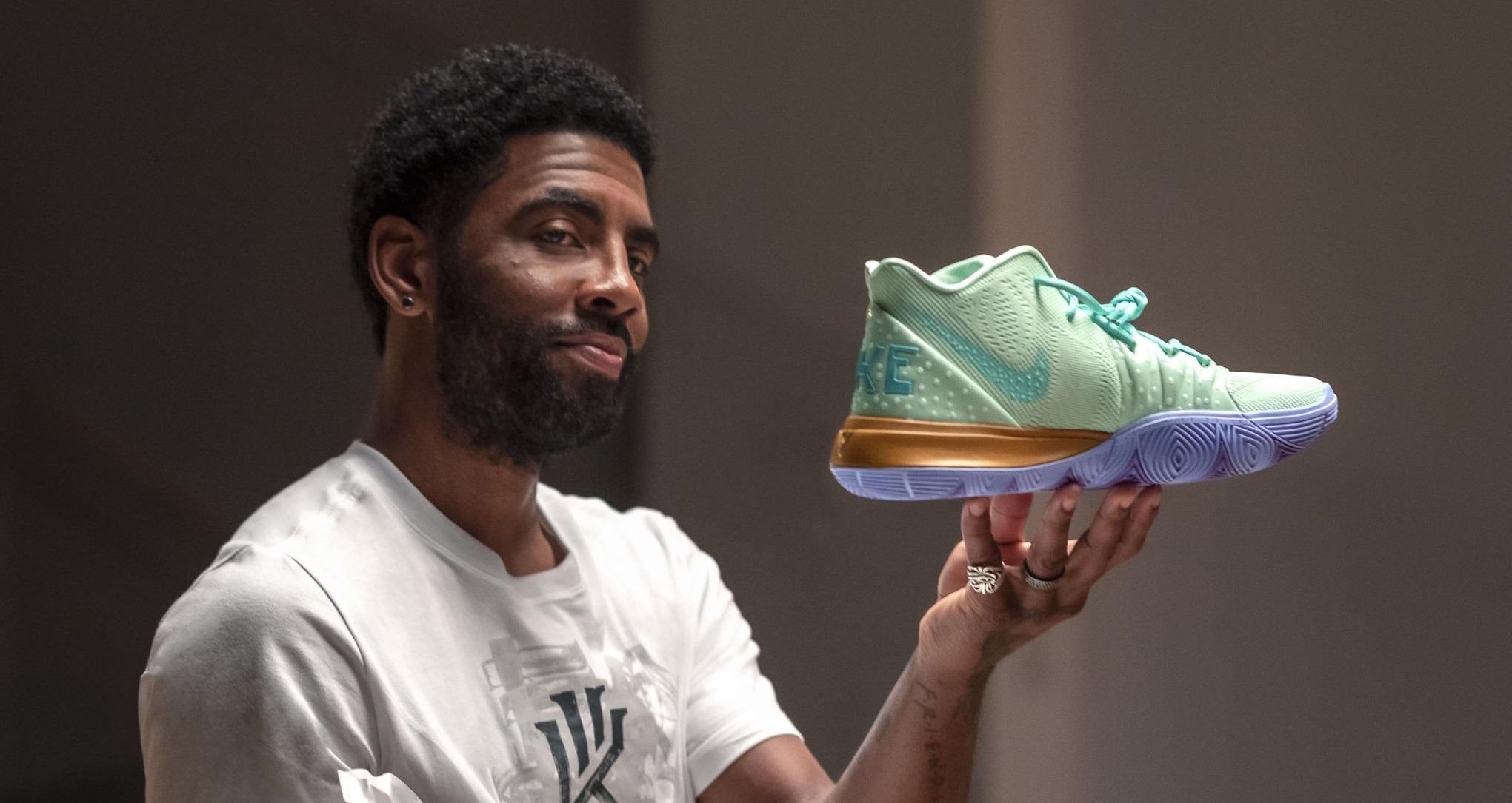 Kicks : la collection Nike Kyrie 5 Bob L'éponge