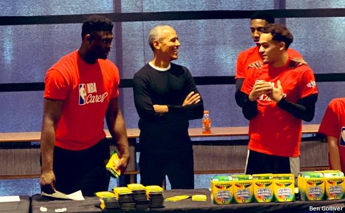 受寵若驚!Zion受到Obama表揚有點暈,他還開出參加灌籃大賽的條件!