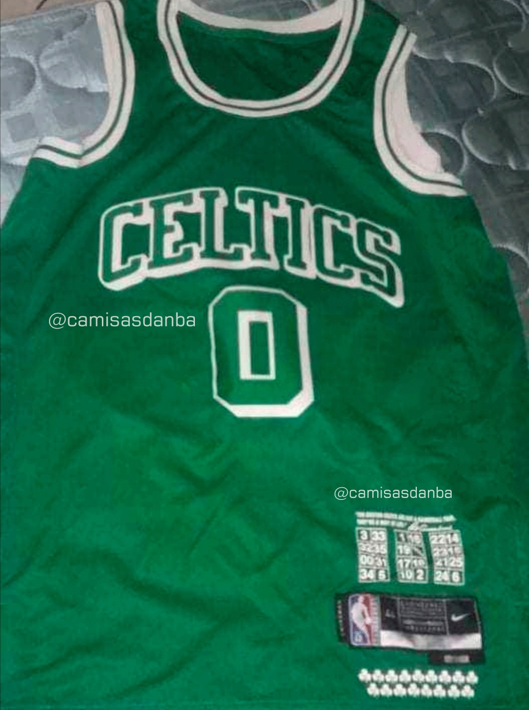 A primary picture of the Celtics City Version jersey